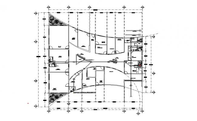 Office Layout Plan In DWG File