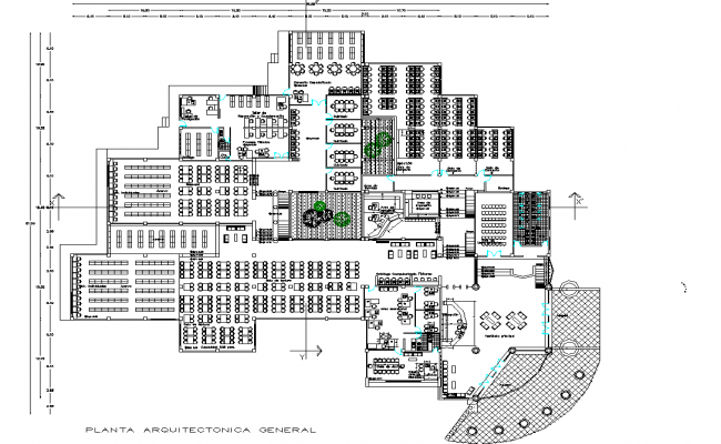 Office plan detail dwg file
