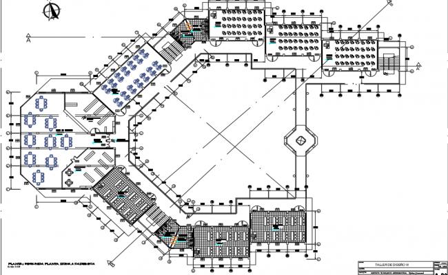 Office plan detail dwg file