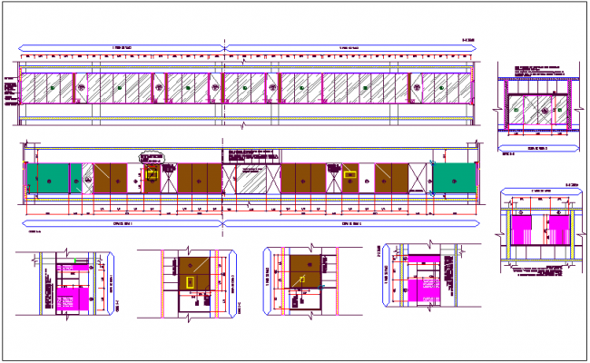 Office plan detail view dwg file