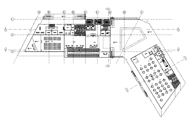 Office plan layout detail dwg file
