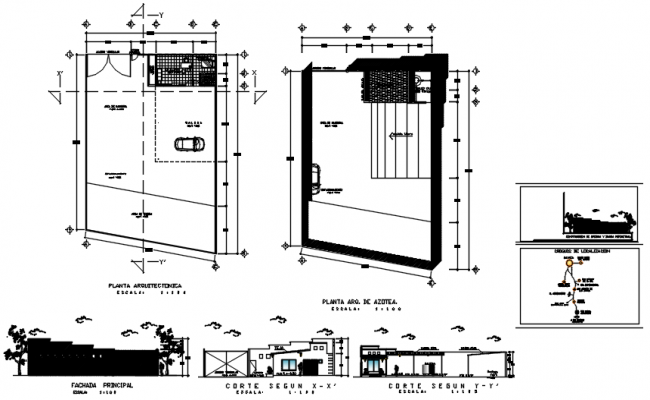 Office plan with detail dimension in dwg file