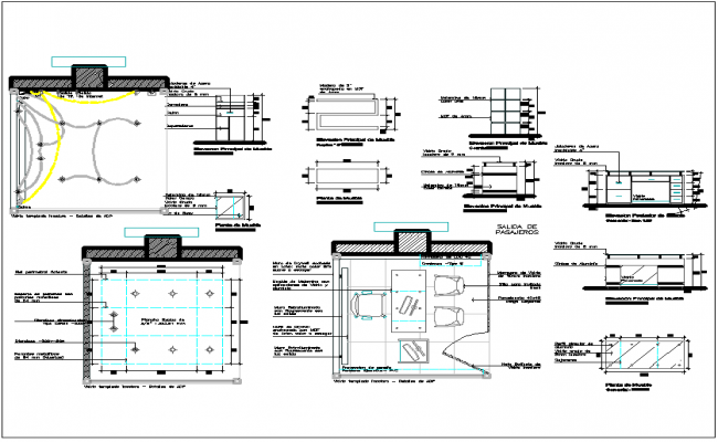 Office room plan detail dwg file