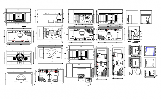Office structure building detail 2d view autocad file