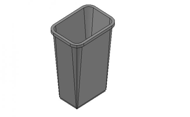 Office waste bin 3d