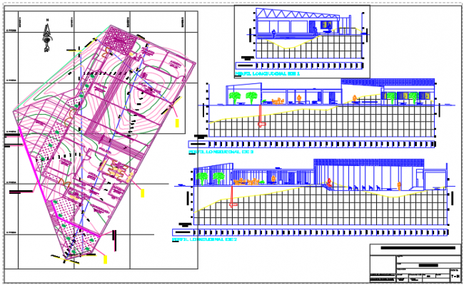 Office working plan and elevation detail dwg file