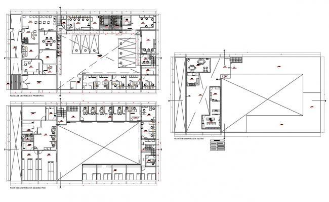 Office Building Floor Plans Examples DWG