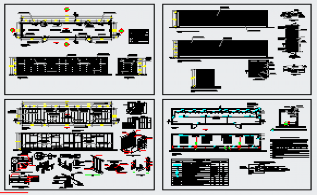 Offices in recycled marine containers design drawing
