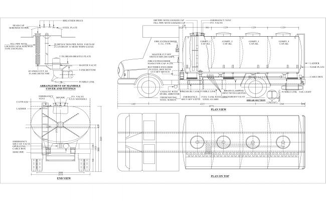 Oil Tanker Detailed Drawing