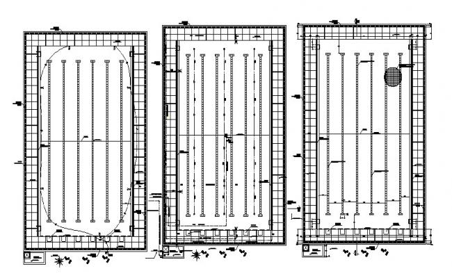 Olympic pool CAD drawing design dwg file