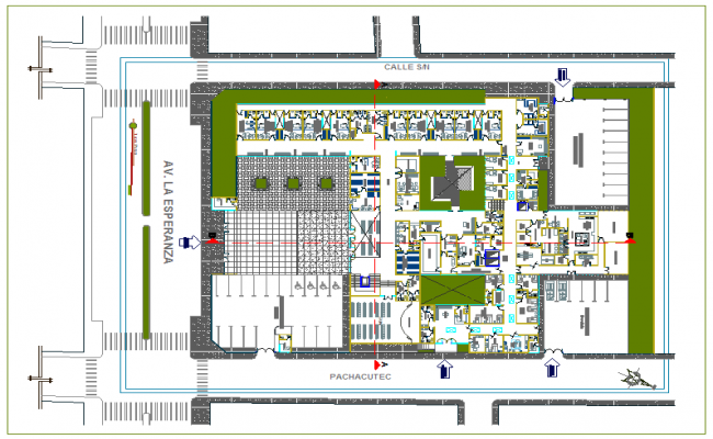 Oncology clinic design view of hospital