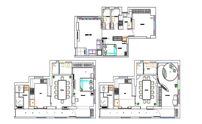 One BHK Furnished Condo Layout Plan