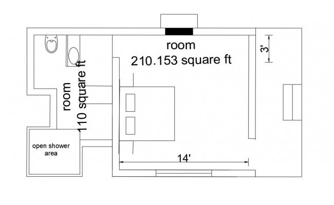 One Bedroom House Plans Free CAD Block