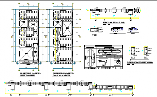 One Family Housing Construction Details dwg file