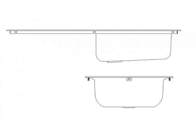 One Side Stand Kitchen Basin Block