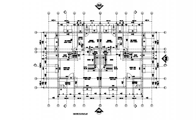 One bhk Twin Bungalow Working Plan AutoCAD Drawing