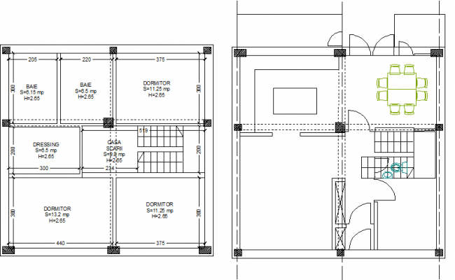 One family home detail dwg file