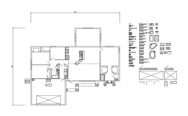 One family house floor framing plan and auto-cad details dwg file