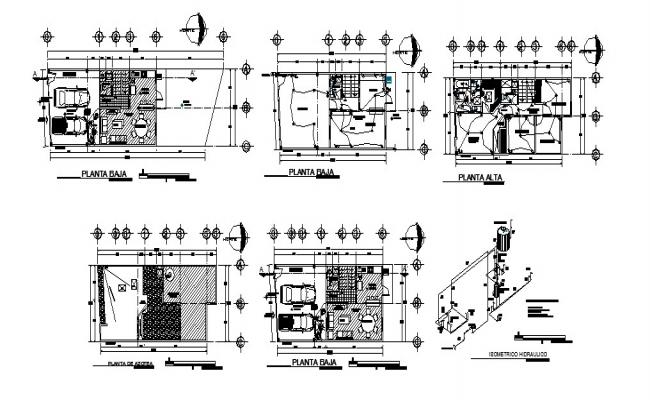 One family house floor plan and electrical installation layout plan details dwg file
