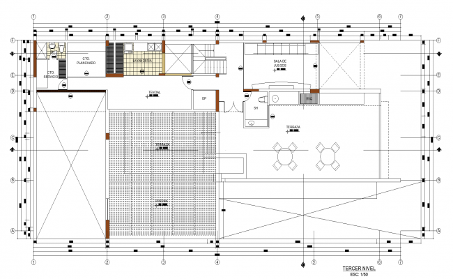 One family house plan detail dwg file.