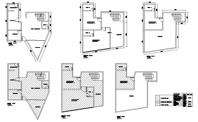 One family house plan layout file
