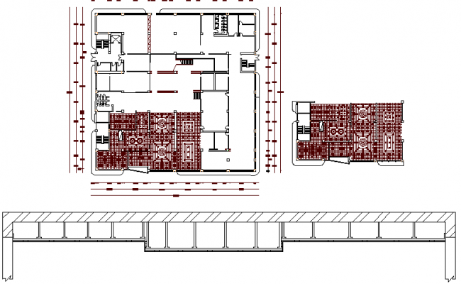 One family house print structure and beam details dwg file