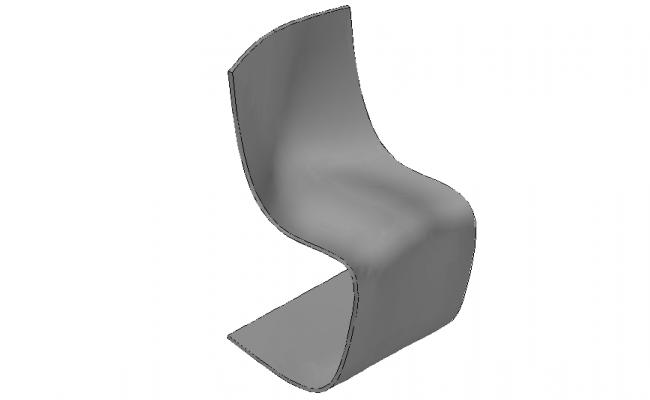 Chair 3d Model In DWG File