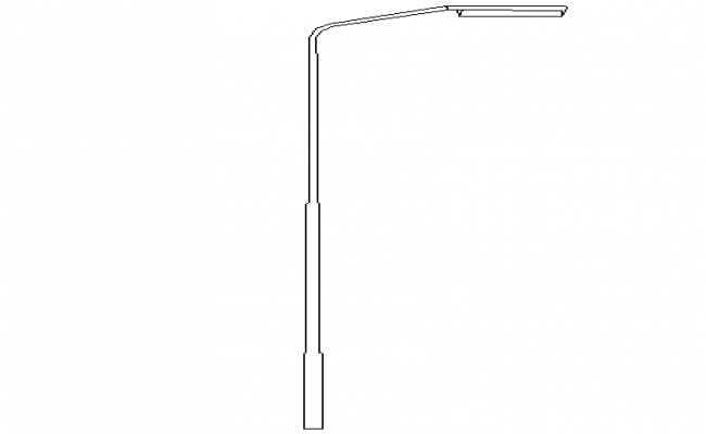 One sided lamp view street light pole cad details dwg file