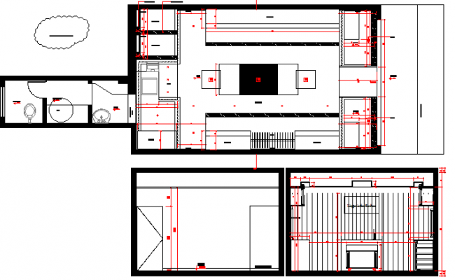 One story corporate office general layout plan dwg file
