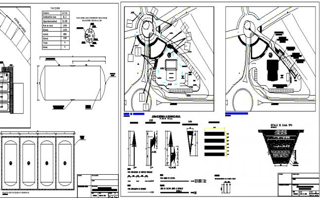 Online Gas Station Design and Elevation dwg file