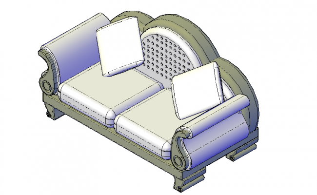 Ornate Arm Chair  3d details