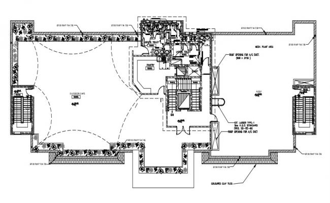 Out Door Open Cafe Design Architecture Layout Plan