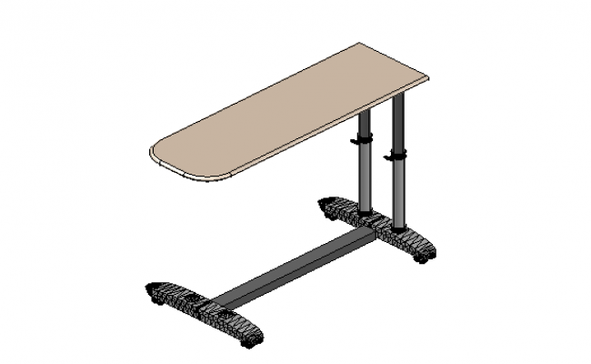 Overbed table 3d details