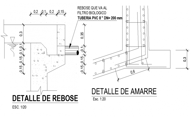 Overflow and mooring detail layout file