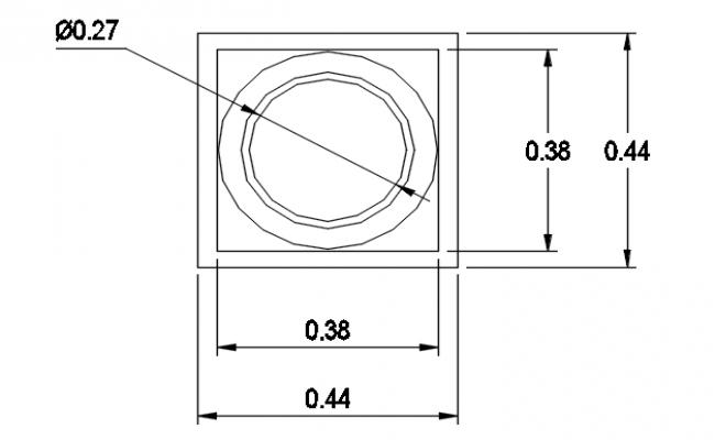 P-trap plan detail dwg file