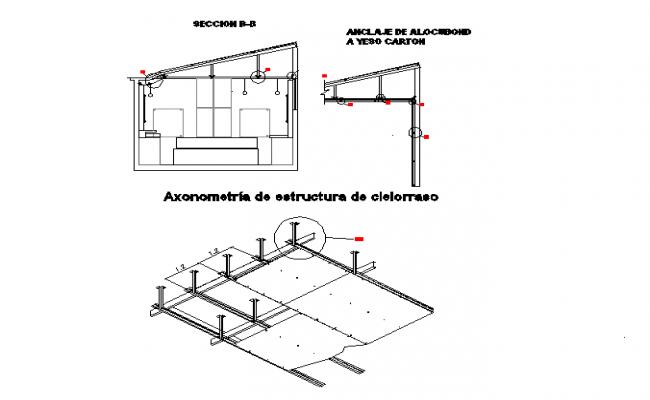 POP sectional elevation details
