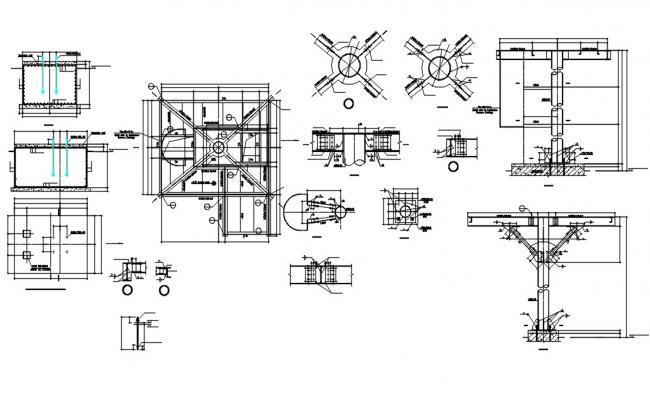 Pad Foundation Design With Structure Design AutoCAD File