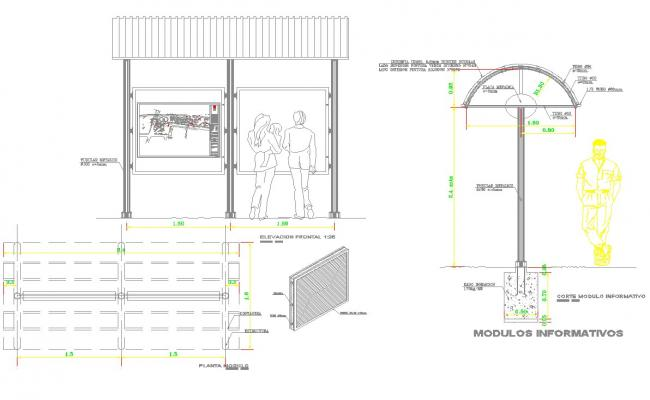 Pallet of informations detail cad drawing