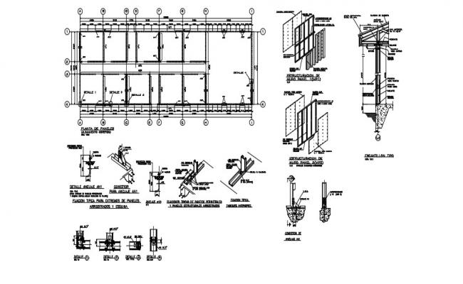 Panel Plant In AutoCAD File