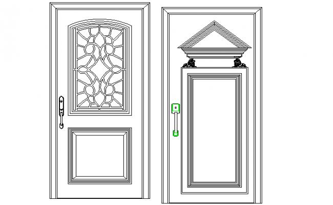 Panelled type of door detailing