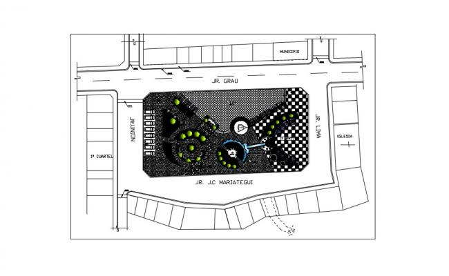 Park Layout Plan In AutoCAD File