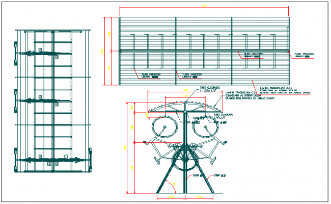 Park equipment detail view dwg file