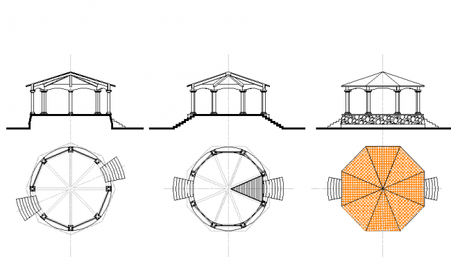 Park garden roof shade and seating arrangements structure