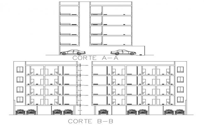 Parking House Section Plan