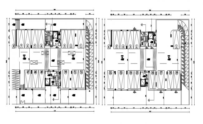 Parking Plan AutoCAD Drawing