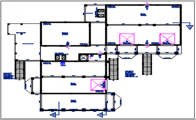 Parking area planning view detail dwg file