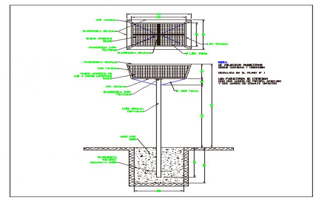 Part hole packages construction details dwg file