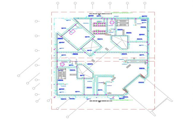 Partial Lighting Layout Plan CAD File Free Download