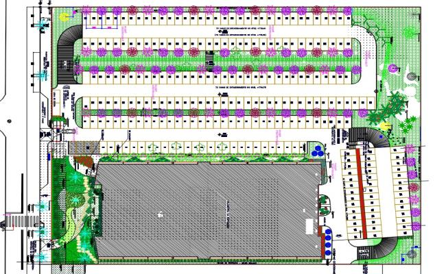 Party Plot With Parking Lot AutoCAD File