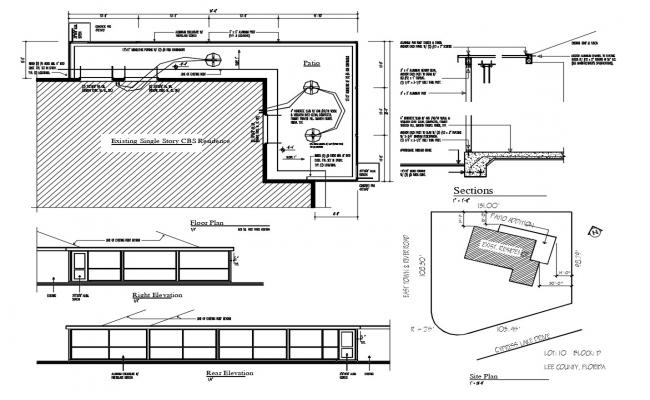 Floor Plan With Electrical And Plumbing
